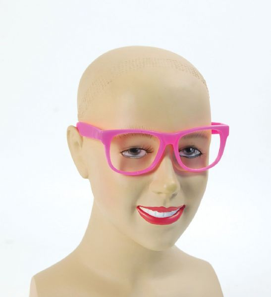 50s Pink Frame Glasses 50s Rockabilly Fifties Fancy Dress Accessory